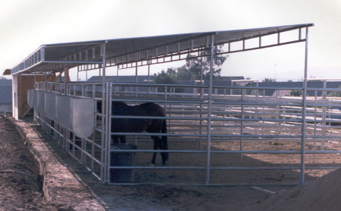 SHADES, CORRAL PANELS AND SHELTERS