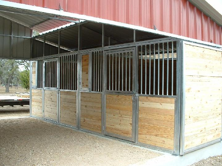 TONGUE AND GROOVE STALL FRONTS WITH GRILLED DUTCH DOORS