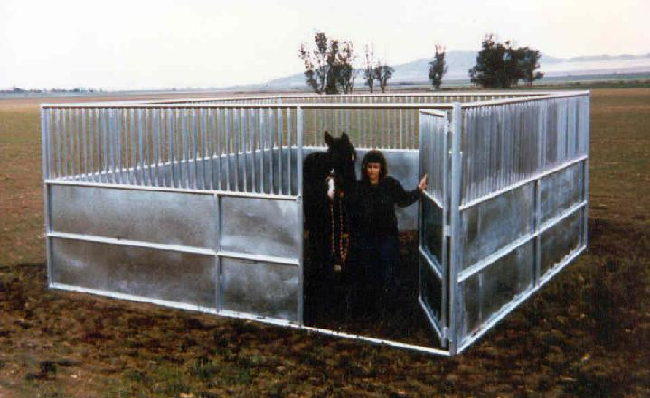 GALVANIZED STEEL STALLS, VERTICAL OR HORIZONTAL GRILL WORK OR BARS AVAILABLE