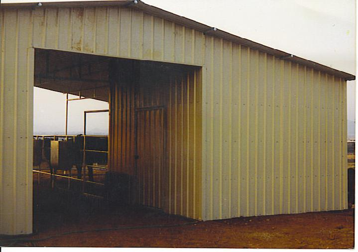 Metal Buildings, Enclosed Mare Motel/Open Air Barns, Tackrooms, Feed Sheds, Storage stalls, Hay Storage Buildings