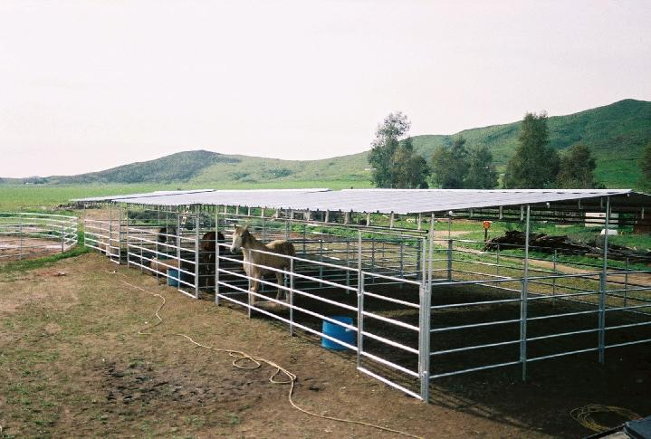 OPEN AIR COVERED CORRALS