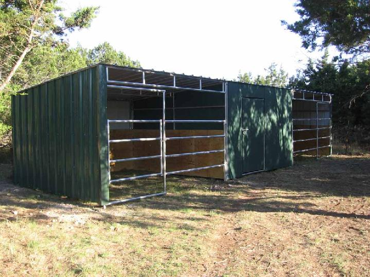 12' x 36' Loafing Shed (2 stalls &  1 Tack room)